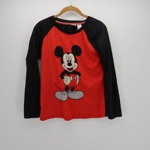 Disney Mickey Mouse Print Long Sleeve T-Shirt Top